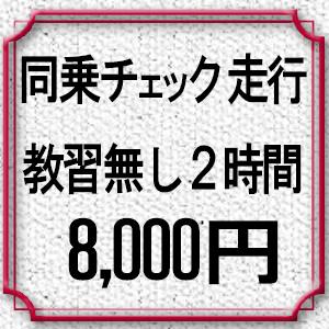 同乗チェック走行。教習無し2時間8,000円