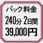パック料金4時間×2日間39,000円