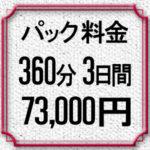 パック料金6時間×3日間73,000円
