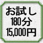 お試し3時間15,000円コース