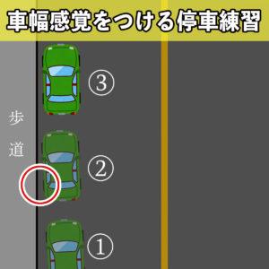 ペーパードライバー講習07 停車 良い例