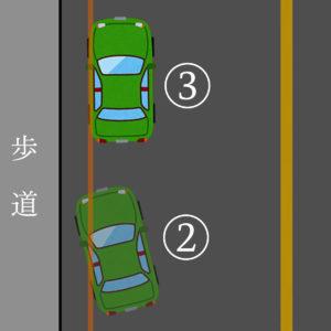 ペーパードライバー講習07 停車 悪い例 拡大